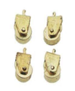 Maison de Poupées Solide Laiton Roulettes Miniature Matériel Paquet De 12