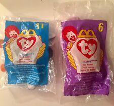 2,McDonald's TY Teenie Beanie Babies SEALED In Bags