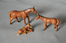 Vintage 3 Thoroughbred Horses - Japan bone china miniature ceramic animal
