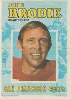 1971 Topps Pin-Ups #18 John Brodie poster, San Francisco 49ers