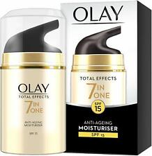 Olay Total Effects 7-in-1 Anti-Ageing SPF15 Moisturiser 50 ml-Brand New & Sealed