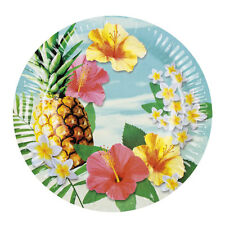 Hawaii Party Teller 6 Stück NEU - Partyartikel Dekoration Karneval Fasching