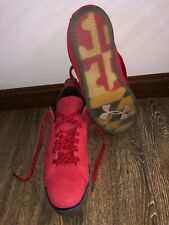 Under Armour 14 Men's Rare Maryland Football Umd Shoes Sneakers Red Leather