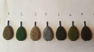 5 x 1.5 oz flat pear inline carp fishing lead weights