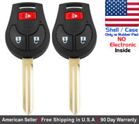 KeylessCanada /© 2x New Replacement Keyless Remotes with 2 Ignition Keys For Nissan ID 46 Chip KBRASTU15 N104T