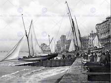 HASTINGS YACHTS STARTING ENGLAND VINTAGE OLD BW PHOTO PRINT POSTER ART 908BW