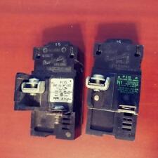 2 ITE Bulldog P115 Pushmatic 15 Amp Single Pole Circuit Breakers