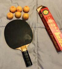 Table tennis racket butterfly WAKABE D 13 W/ 6 Halex Ping Pong Balls