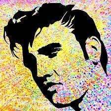 NIK TOD ricreato da grande dipinto originale FIRMATA RARA ART Elvis Presley UK