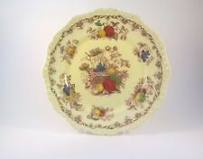 """MASON's dinner plate 'Fruit Basket' 10"""" rare border pattern red / multi colour"""