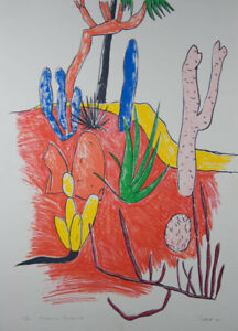 Andrew SOUTHALL Botanic Gardens- Abstract Landscape, Signed Original Screenprint