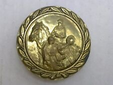 Horse and Rider Baron Belt Buckle Solid Brass