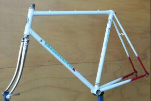 Vintage Italian Bianchi Columbus Cromor steel bicycle frame frameset 57 cm