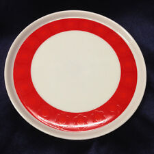 "WUNSIEDEL BAVARIA GERMANY WUN13 SALAD PLATE 7"" RED FLORAL BAND ON WHITE"