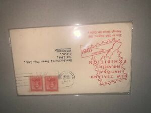 new zealand national philatelic exhibition 1961 fdc first day cover