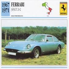 1967-1971 FERRARI 365GT 2+2 Classic Car Photo/Info Maxi Card