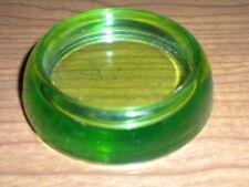 "3"" Hazel Atlas GREEN Vaseline Glass Furniture Coaster Rug Protector  B85"