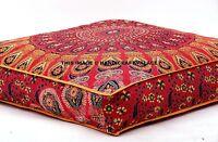 Indian Mandala Floor Ottoman Poufs Pets Bed Cover Hippie Tapestry Pillow sham