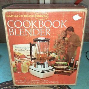 NEW Vintage White Hamilton Beach Scovill 7 Speed Cookbook Blender Model 261