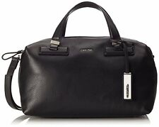 Calvin Klein Leather Women's Kate Duffle Shoulder Bag Sac cuir - Black Noir