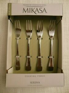 Mikasa * 4-pc Cocktail  Forks ** { SERENA }  ** Free  Shipping
