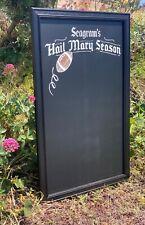Seagram's Gin Hail Mary Season Beer Bar Man Cave Wall Chalkboard