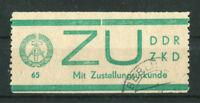 DDR Dienstmarken E 1 gestempelt für Zustellurkunde Michel 80,00 € used