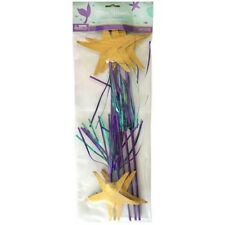MERMAID WISHES DELUXE STARFISH WANDS (6) ~ Birthday Party Supplies Favors Toys