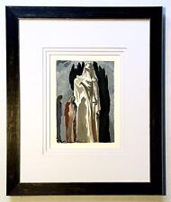 Salvador Dali Original 1960 Divine Comedy Inferno Canto 10 Framed COA