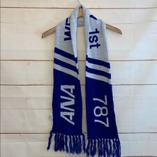"""NEW RARE BOEING 787 ANA We Fly 1st First Delivery Scarf Blue White 7"""" X 61"""" NWOT"""