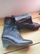Faith Brown Leather Calf High Boots Size 5