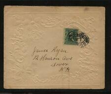 US  large  Valentine  envelope  used to  Dover , NH   SR0526