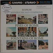 RESPIGHI: Pines, Reiner RCA LIVING STEREO LSC-2436 Classic Records 45 SET LP NM
