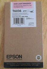 07-2015 GENUINE EPSON T6036 VIVID LIGHT MAGENTA 220ml INK STYLUS PRO 7880 9880