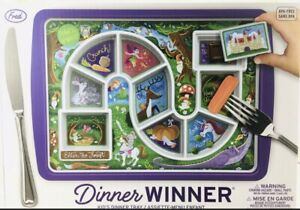 Fred DINNER WINNER Kids Dinner Plate / Tray Interactive Game Enchanted Forest