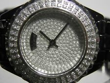 AKRIBOS XXIV CERAMIC LADIES WATCH DAZZLING PAVE DIAL AND CRYSTAL BEZEL AK457BK