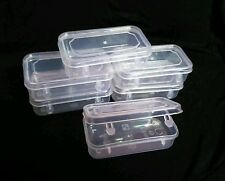 48 Clear Plastic Small Boxes Container with Lid DIY Crafts Beads Parts 8.5x4.5cm