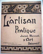 "Sept.1,1905 ""L'Artisan Pralique"" Journal Written In French w/ Decoration Ideas *"