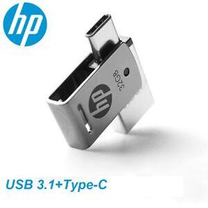 HP OTG Type-C USB3.1 Metal USB Flash Drive 256GB 128GB 64GB High Speed X5000M