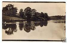 Vintage Postcard Real Photo Beautiful Lake Landscape