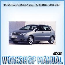 TOYOTA COROLLA ZZE122 SERIES 2001-2007 WORKSHOP SERVICE REPAIR MANUAL IN DISC