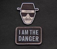 SWAT Heisenberg & I Am The Danger Morale Patch Set Breaking Bad Hook Backing