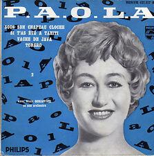 P.A.O.L.A SOUS SON CHAPEAU CLOCHE (BORIS VIAN) FRENCH ORIG EP ALAIN GORAGUER