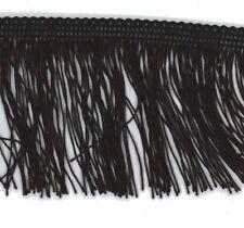 Black 50mm Cut Rayon Fringe, Sash Fringe, Fringing