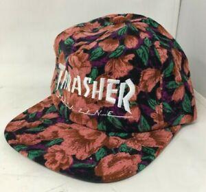 Thrasher Magazine - Mag Logo Corduroy Snapback Hat - Pink Floral [144892] One Sz