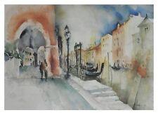 E. Hofmann Venedig Poster Kunstdruck Bild 49x69cm - Kostenloser Versand