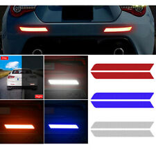 2x NEW Reflective Safety Warning Strip Car Door Bumper Reflector Stickers Decal