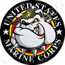 Premium Round 3M Epoxy Gel Domed Decal or Flat Sticker - USMC Marines Devil Dog