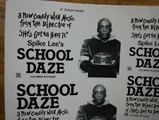 SCHOOL DAZE Movie Mini Ad Sheet Vintage Advertising Poster Film Spike Lee