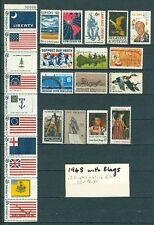 US 1968 commemorative year set with Flags strip, No Airlift